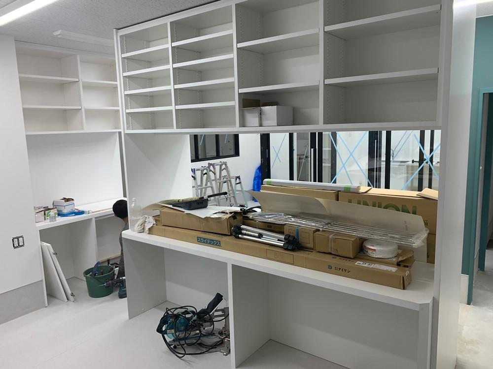 アリアスペットクリニック 内装工事 検査コーナー