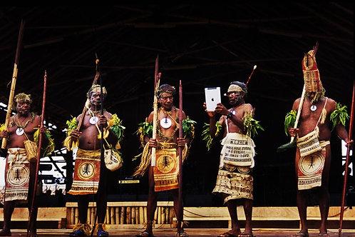 Festival of Arts, The Solomon Islands, Santa Cruz Dance Troupe - Poster