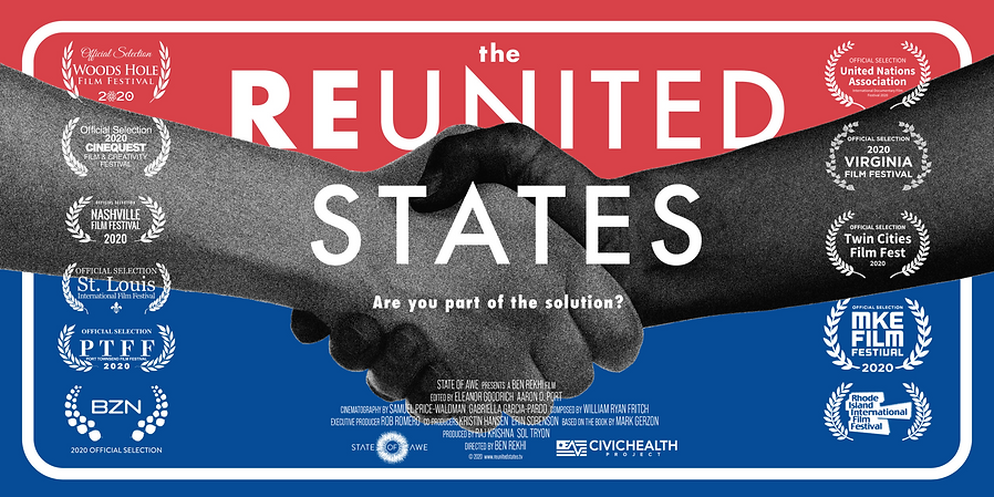 The Reunited States - poster with laurel