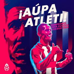 Atletico de Madrid UEFA cup champion