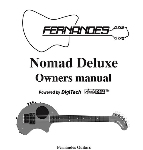 Nomad Deluxe 2002 Operation Manual