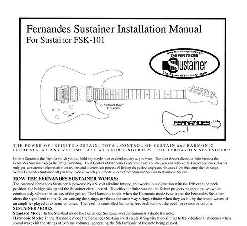 2001-2018 Fernandes FSK-101 Sustainer Installation Manual