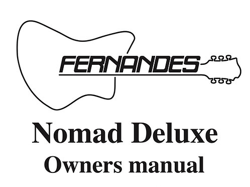 Nomad Deluxe 2000 Operation Manual