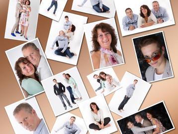 Compilatie familie-portretten