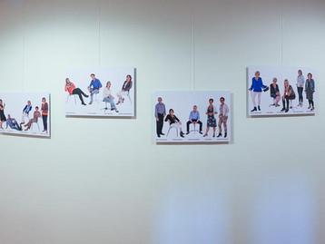 Een pano van een aantal panelen op de Hogeschool Leiden, cluster Zorg