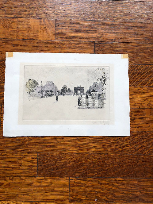 Vintage French Arc de Triomphe Lithograph