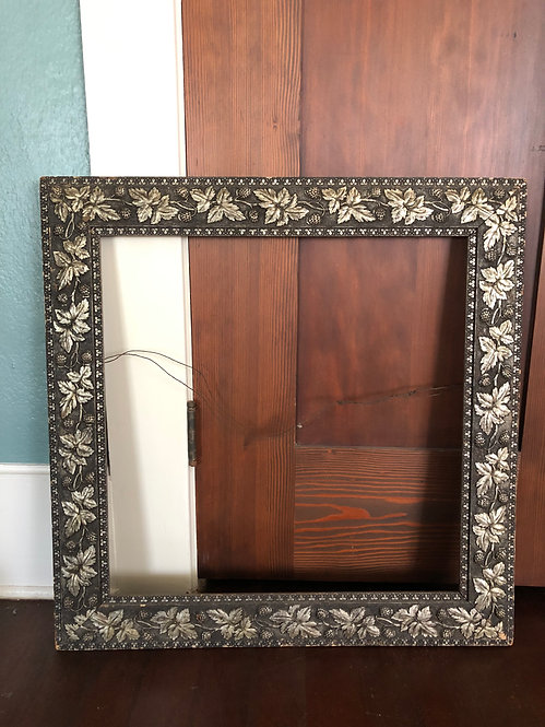 Antique Victorian Large Multi-Colored Gesso Frame