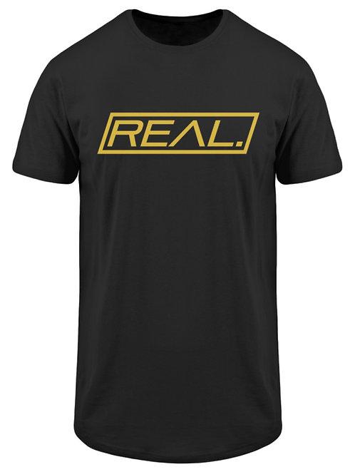Real. - Gold Square  - Herren Long Tee