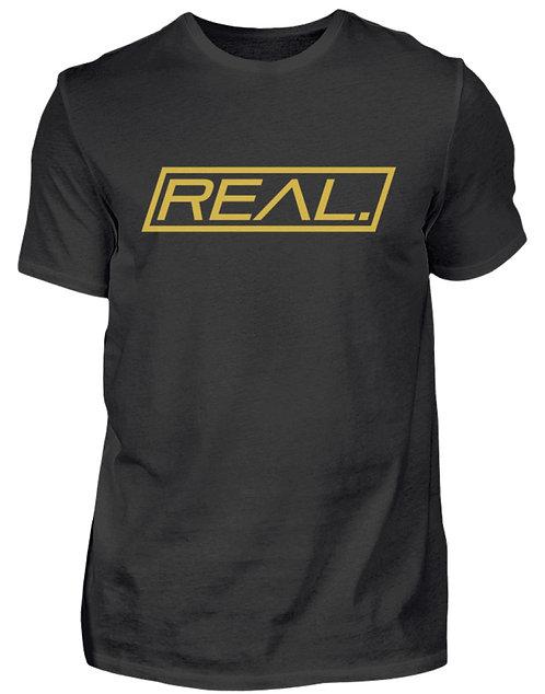 Real. - Gold Square  - Herren Shirt