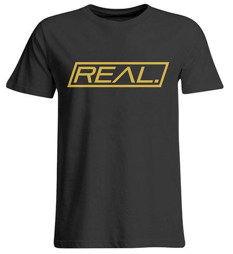Real. - Gold Square  - Übergrößenshirt