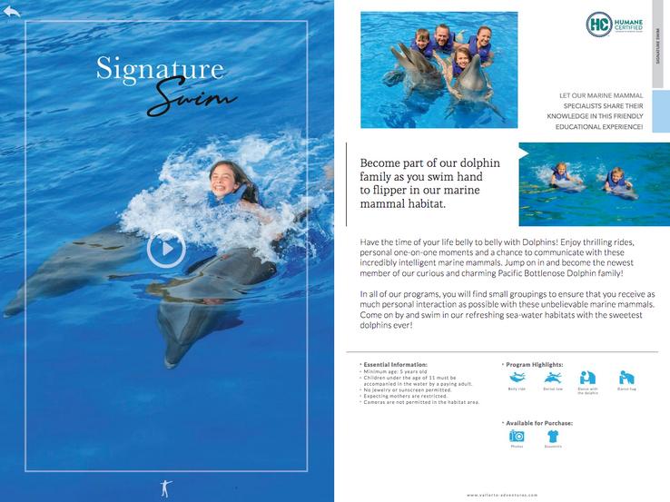 Vallarta Adventures Magazine Spread