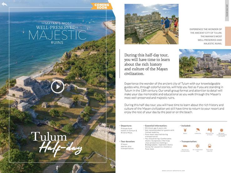 Cancun Adventures Magazine