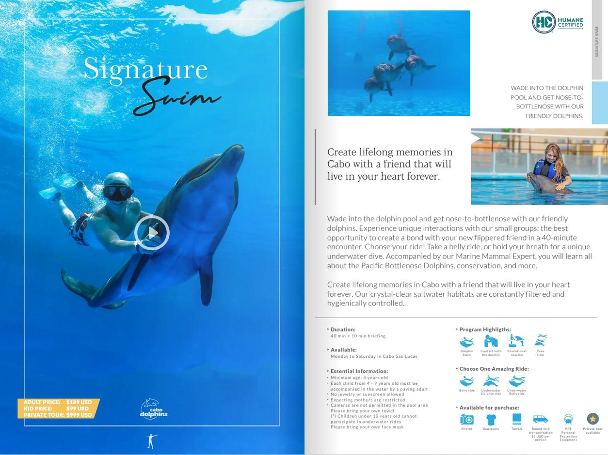 Cabo Adventures Magazine Spread