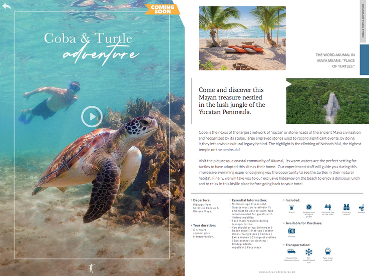 Cancun Adventures Magazine Spread