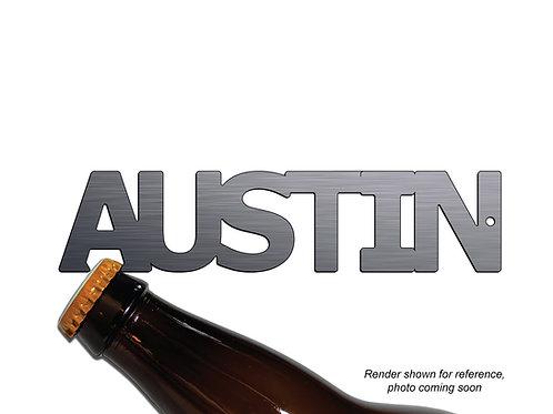"""AUSTIN"" Bottle Opener Keychain"