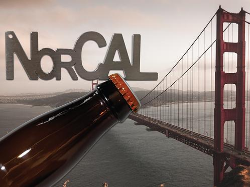 """""""NorCAL"""" Bottle Opener Keychain"""