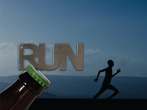 """RUN"" Bottle Opener Keychain"