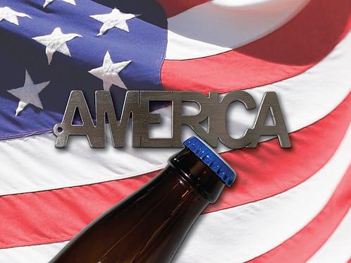 """AMERICA"" Bottle Opener Keychain"