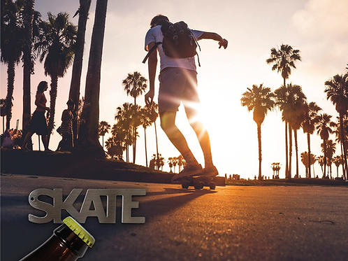 """""""SKATE"""" Bottle Opener Keychain"""