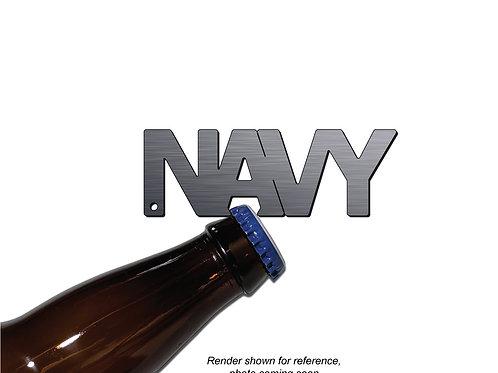 """NAVY"" Bottle Opener Keychain"