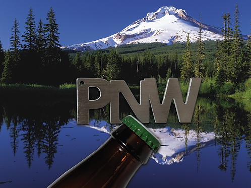 """PNW"" Bottle Opener Keychain"