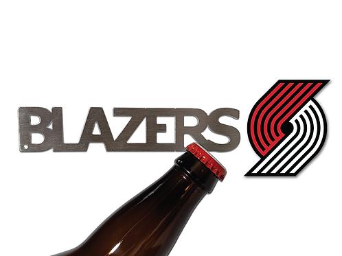 """BLAZERS"" Bottle Opener Keychain"