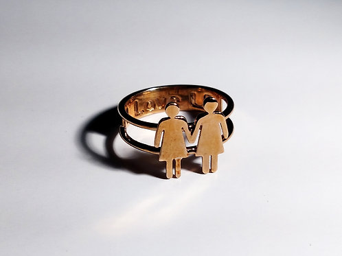 "Woman and Woman Ring - ""Love is Love"" Collection"