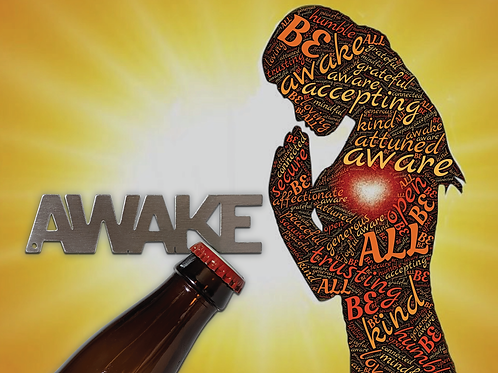 """AWAKE"" Bottle Opener Keychain"