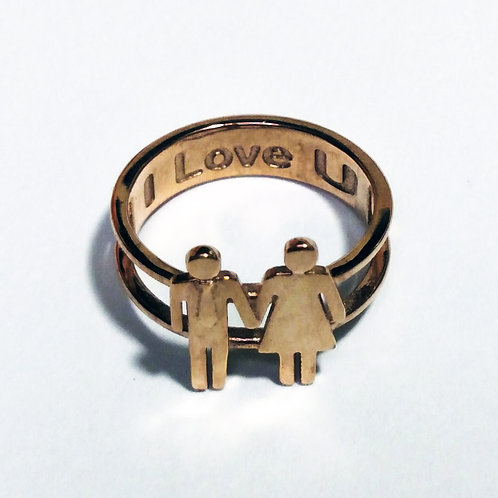 "Man and Woman Ring - ""Love is Love"" Collection"