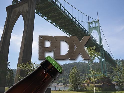 """PDX"" Bottle Opener Keychain"