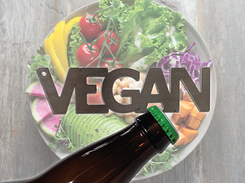 """VEGAN"" Bottle Opener Keychain"