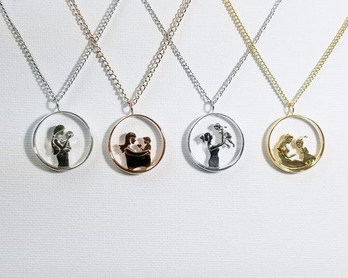 V1 mother and daughter pendant necklace motherhood collection i believe theres beauty in simplicity modern and elegant this design celebrates motherhood by capturing its essence from moments in time aloadofball Choice Image