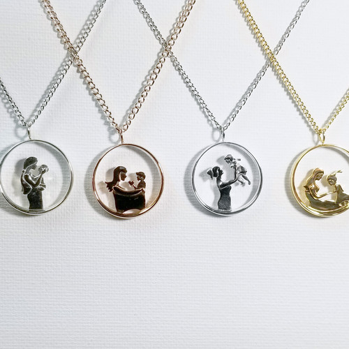 Studio darose modern jewelry for everyday life v3 mother and daughter pendant necklace motherhood collection mozeypictures Gallery