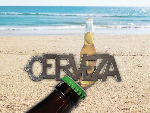 """CERVEZA"" Bottle Opener Keychain"