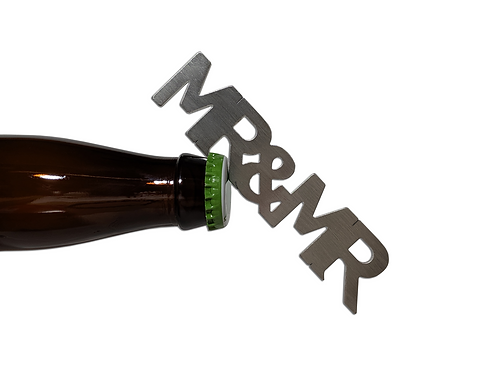 """""""Mr and Mr"""" Bottle Opener Magnet"""