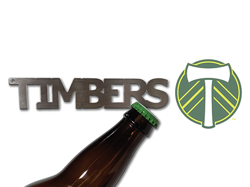 """""""TIMBERS"""" Bottle Opener Keychain"""