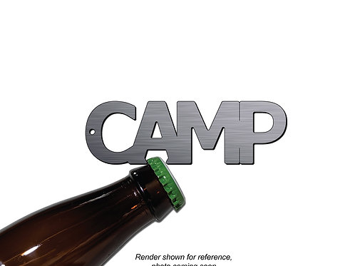 """CAMP"" Bottle Opener Keychain"
