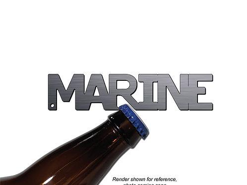 """MARINE"" Bottle Opener Keychain"