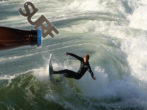 """SURF"" Bottle Opener Keychain"