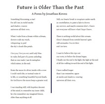 Future is Older Than the Past