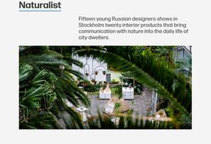Naturalist featured in De Zeen