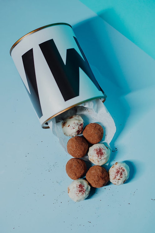 Trufinhas sortidas na lata - Malu Chocolates & Guloseimas