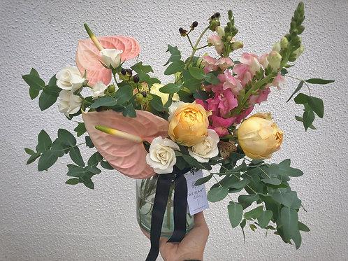 Pote + buquê flores (escolha o tamanho x seca ou fresca)