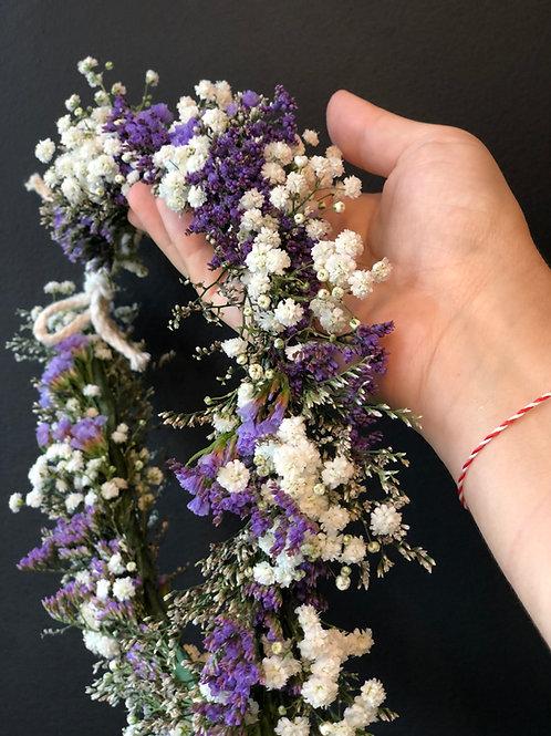 Coroa de flores para o cabelo