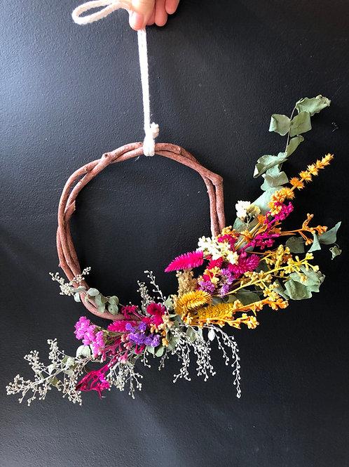 Guirlanda We Plant de flores secas (escolha o tamanho e cores)