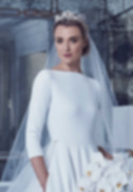 20-3-4-sleeve-short-wedding-dress-elegan