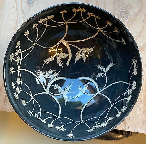 Cow parsley Sgraffito bowl.