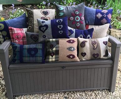 Kay Tily - Penny wool cushions