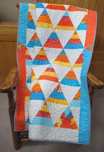 Patchwork quilt triangles