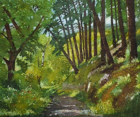 Woodland batik